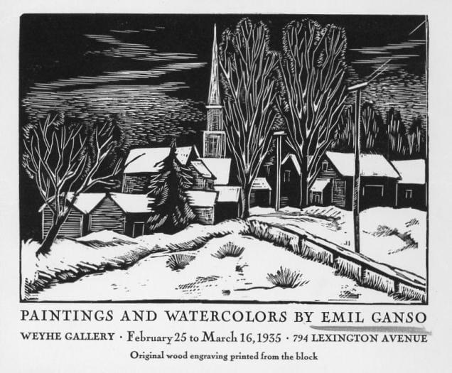 Emil Ganso, Fine Arts, 1933_