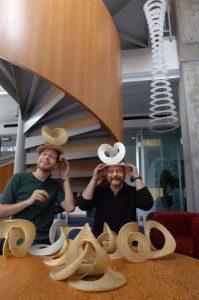 Erik and Martin Demaine, Fellows in Fine Arts, 2013